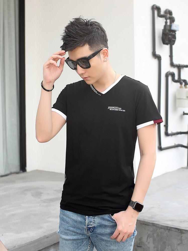 时尚个性袖子短袖t恤