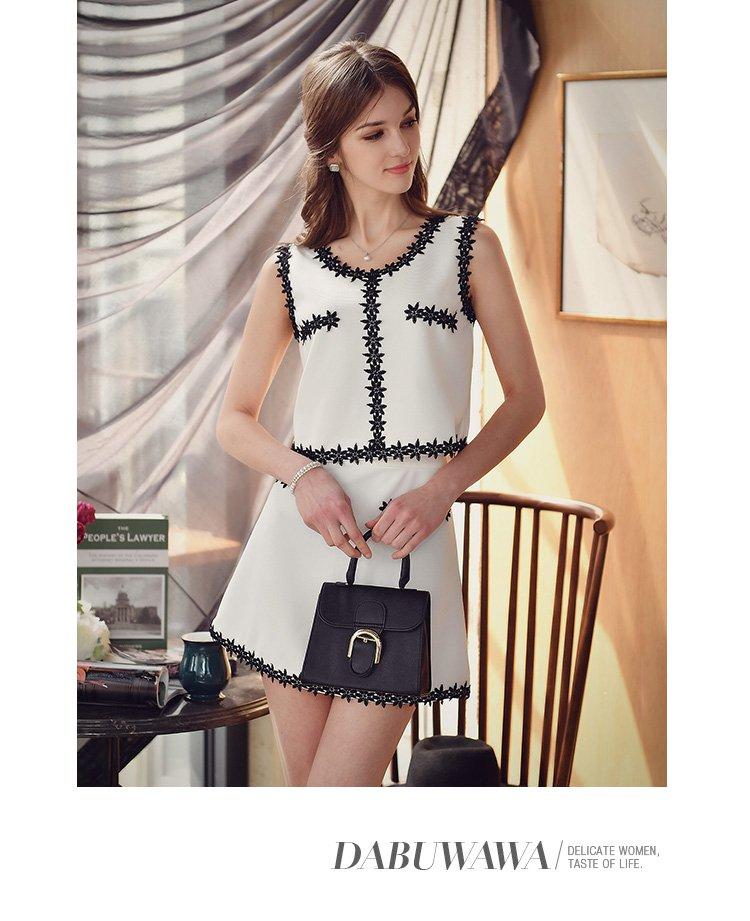 面料: 聚酯纤维 裙长: 短裙 适用人群: 青少年,青年 流行元素: 装饰物