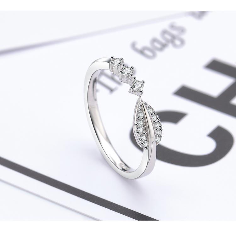 s925银叶子戒指