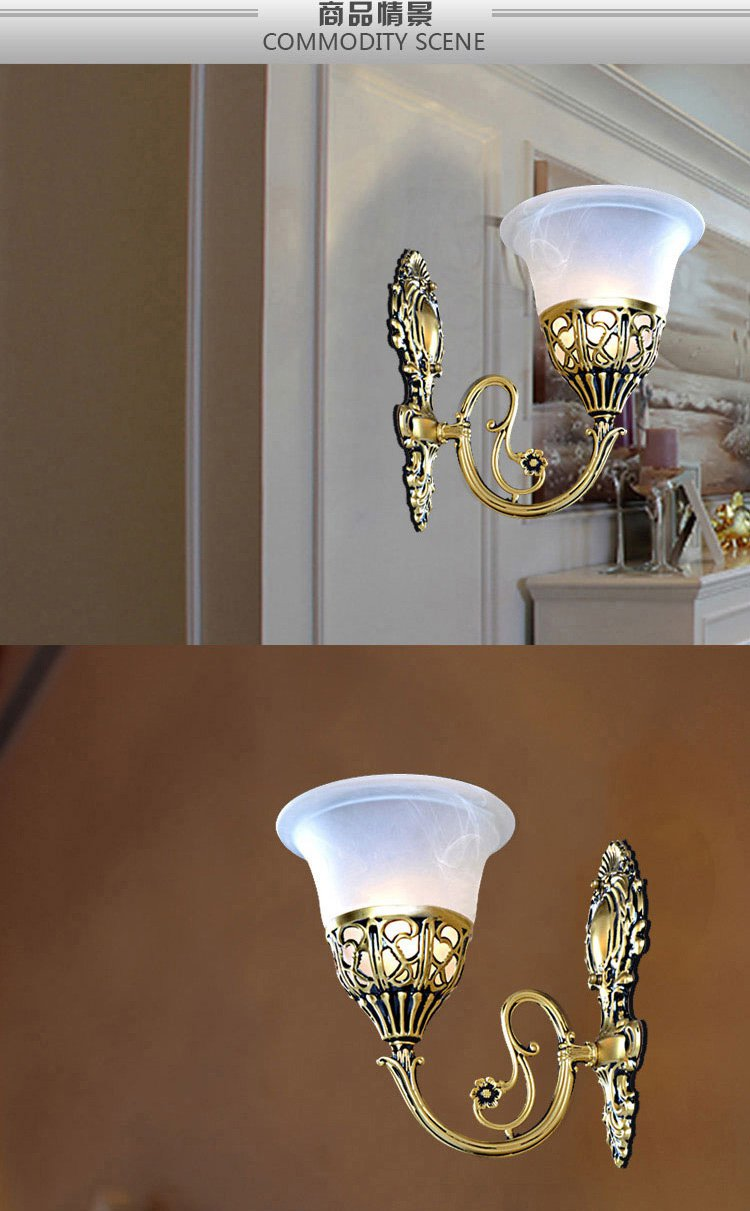 单头欧式雕花简约壁灯