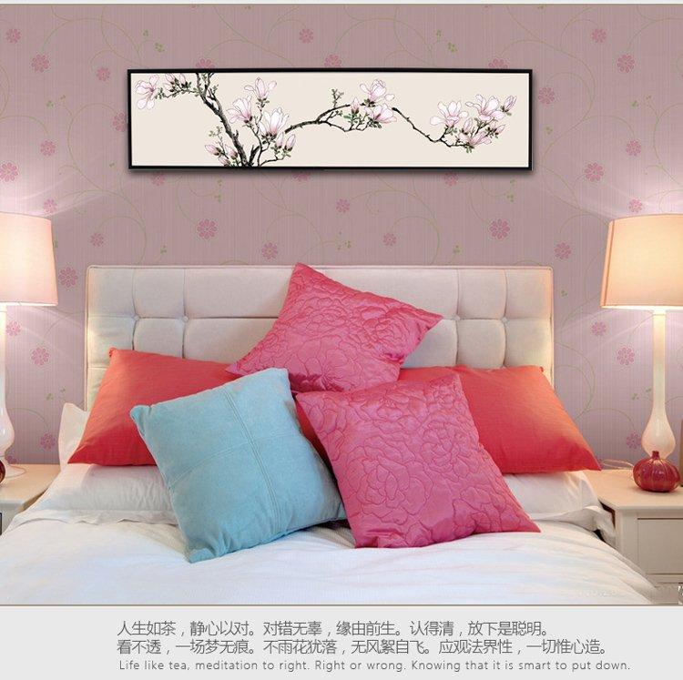 132cm*32cm卧室床头装饰画-玉兰图卷