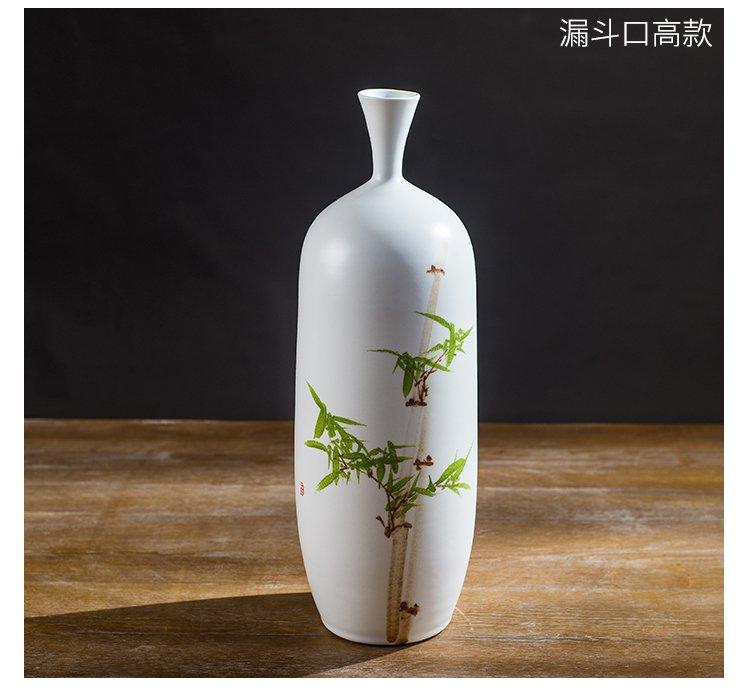 陶瓷中式竹子小口陶瓷花器