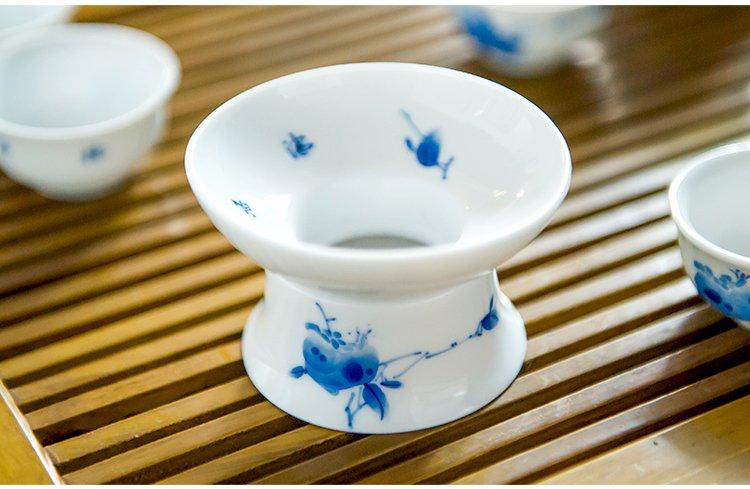 手绘花鸟茶壶茶杯功夫茶具套装