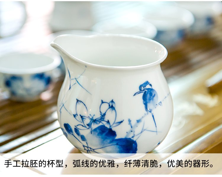 手绘陶瓷茶壶茶杯功夫茶具套装