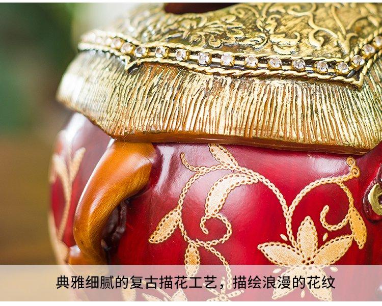 树脂贴花雕刻大象纸巾盒