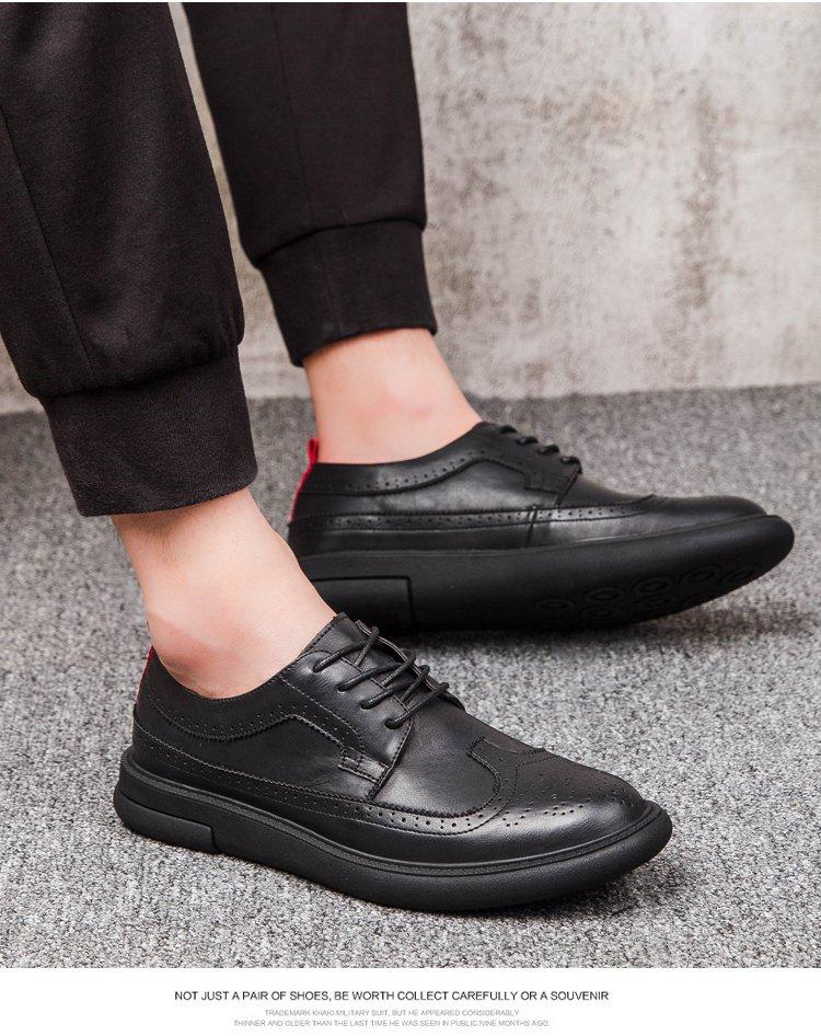复古雕花英伦布洛克系带男鞋