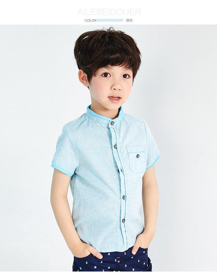 爱乐贝兜儿男童装专场 男童衬衣绿色  品牌名称: 爱乐贝兜儿 商品名称