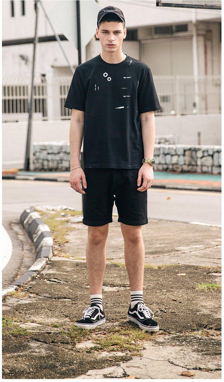 男款个性休闲牛仔短裤