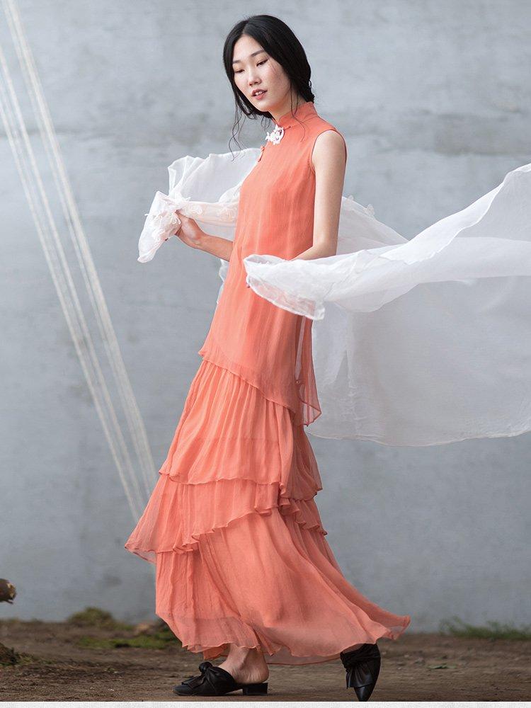真丝旗袍连衣裙