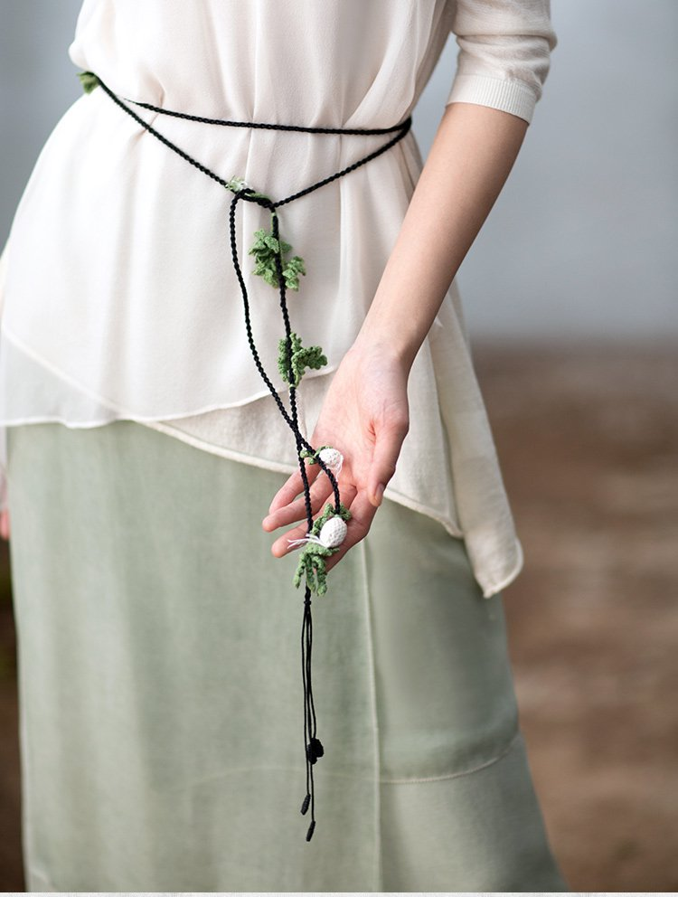 手工编织项链绳子