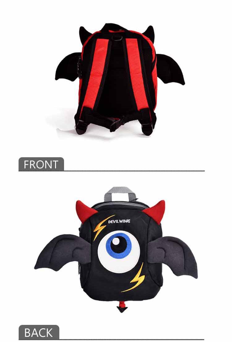 2-5岁devil wing立体小恶魔翅膀防走失背包dw001
