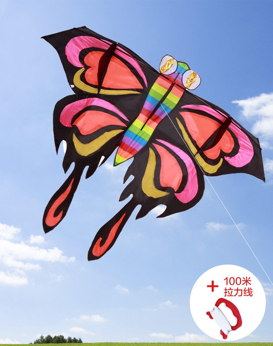 2米前杆蝴蝶风筝送100米拉力线
