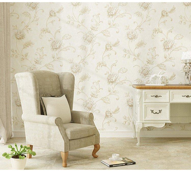 欧式壁纸卧室奢华客厅背景墙无纺布墙纸 康黎