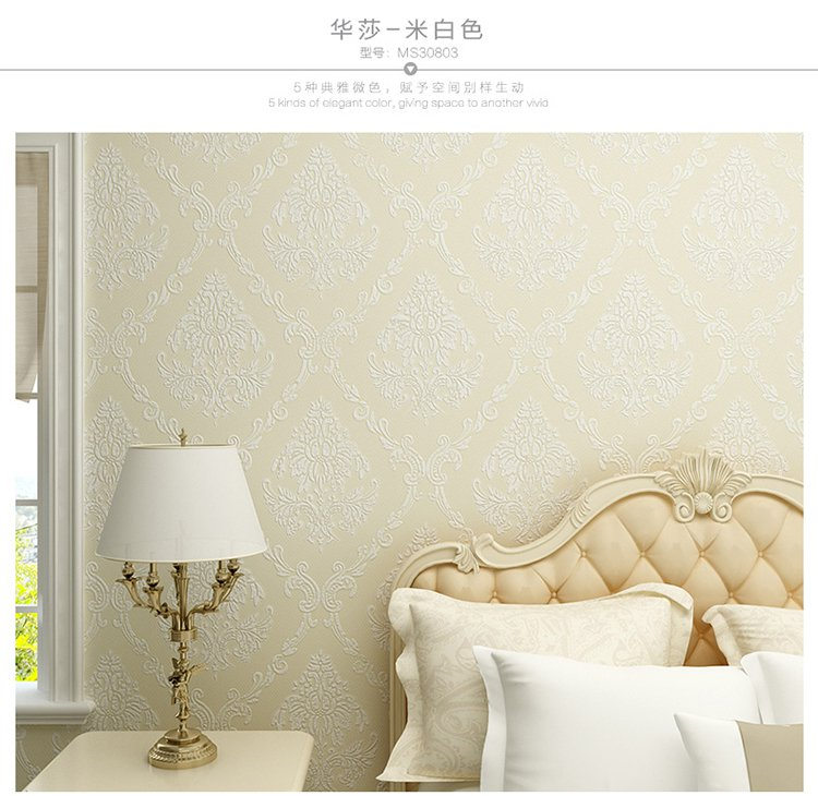 欧式卧室客厅墙纸