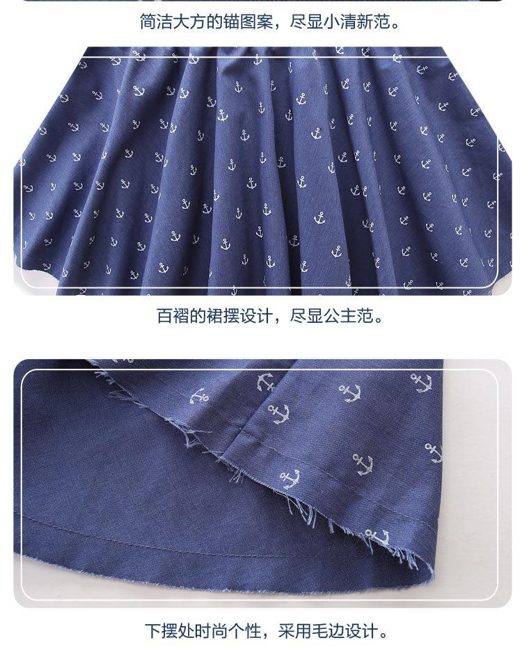 女童牛仔短裙春秋新款可爱公主印花儿童裙子