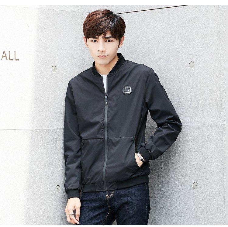 大口袋设计立领时尚休闲修身夹克外套