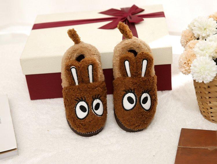 亲子款可爱兔子长耳朵家居拖鞋棉拖鞋