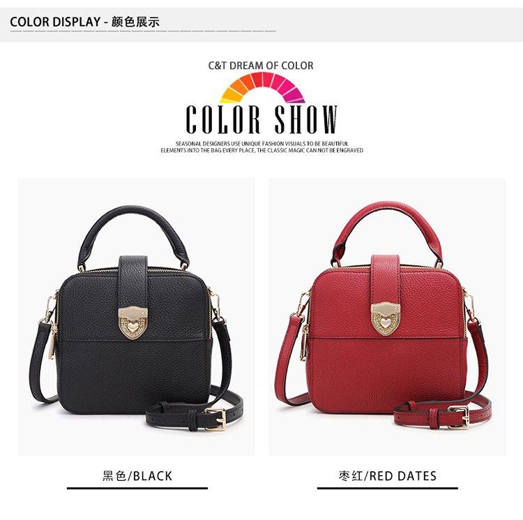 ca1701_c&t新款头层牛皮时尚精致淑女单肩斜挎手提包ca1701-1
