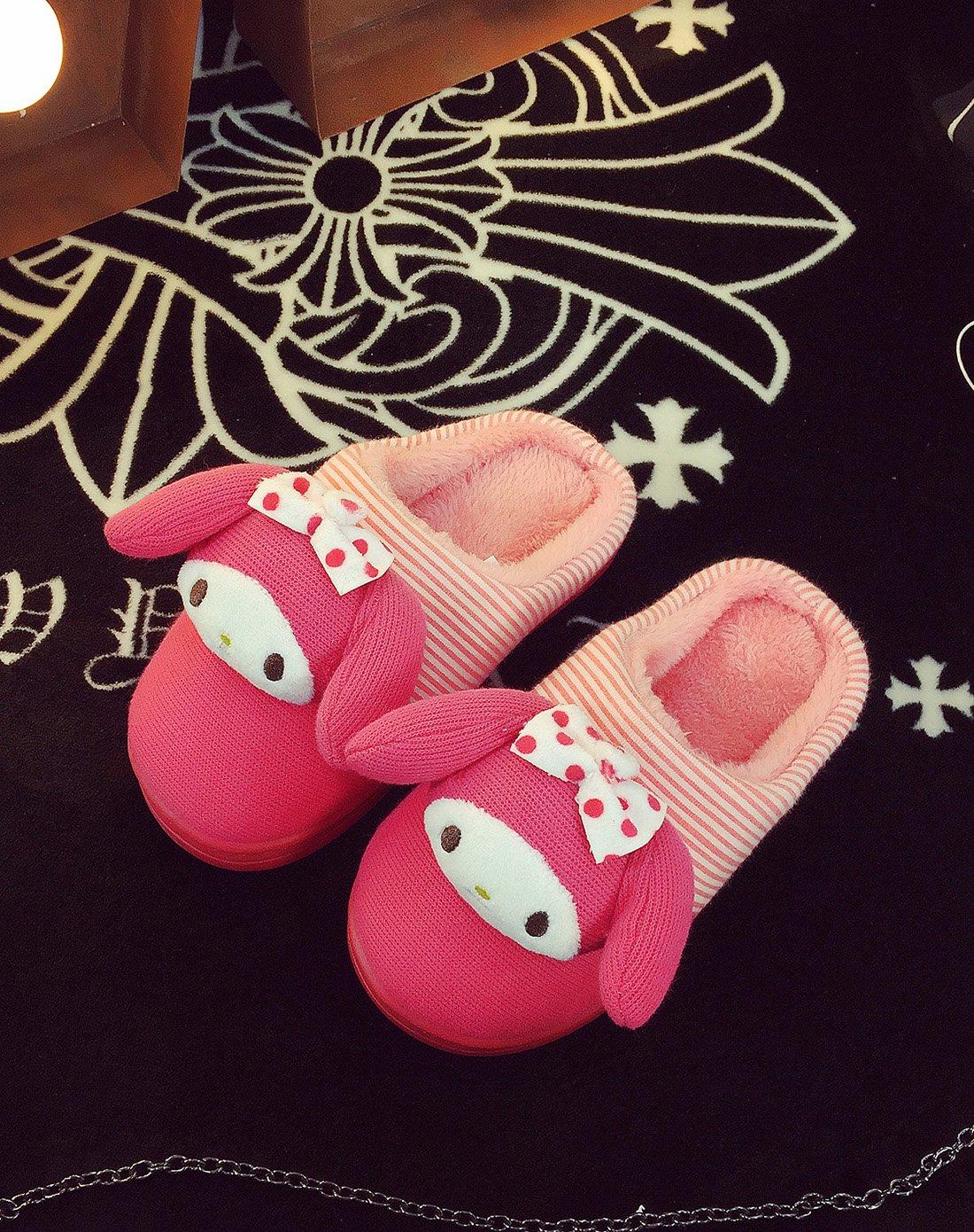 立体可爱娃娃头棉拖鞋