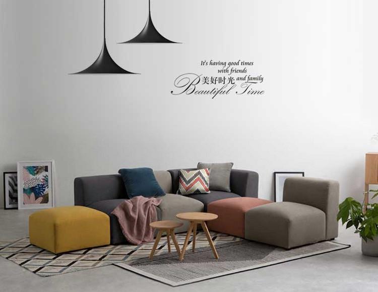北欧极简设计布艺沙发组合 布艺沙发图片