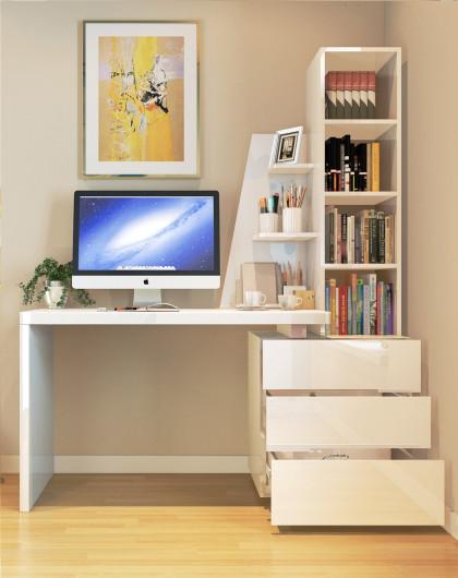 【二件套】简约书房家具 环保书桌书柜组合桌 电脑椅