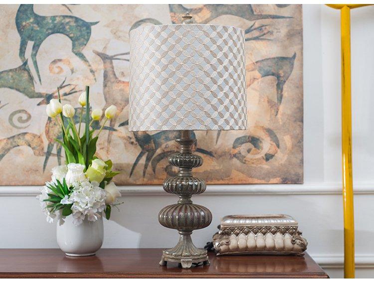 欧式树脂雕刻气质书房床头台灯