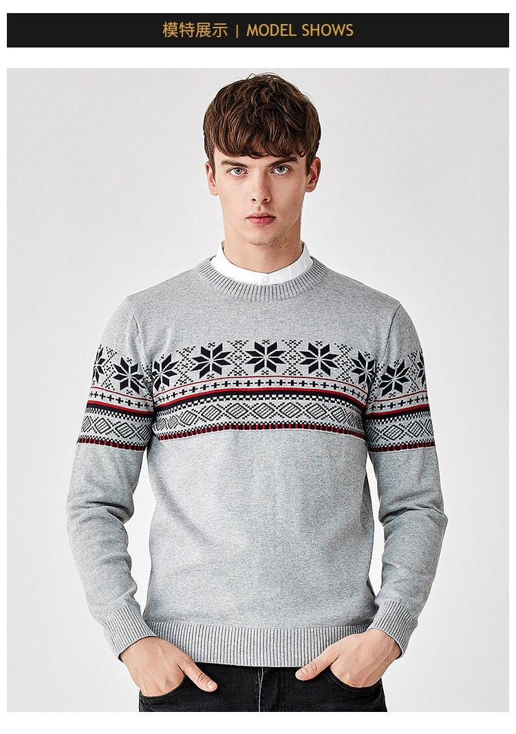 时尚花纹男士针织衫
