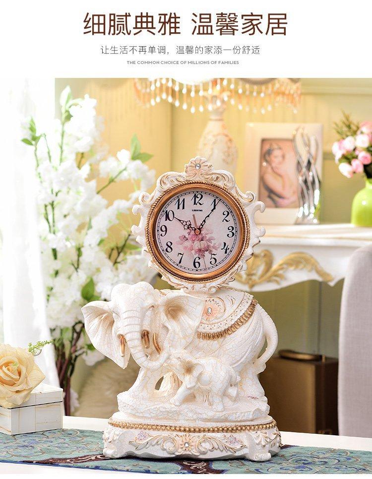 欧式卧室家居装饰品摆件创意客厅钟表座钟