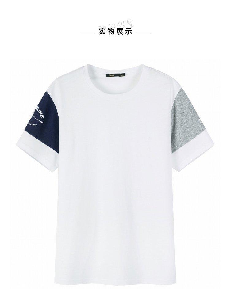 森马2018夏季新款港风体恤宽松半袖上衣学生男士t恤图片