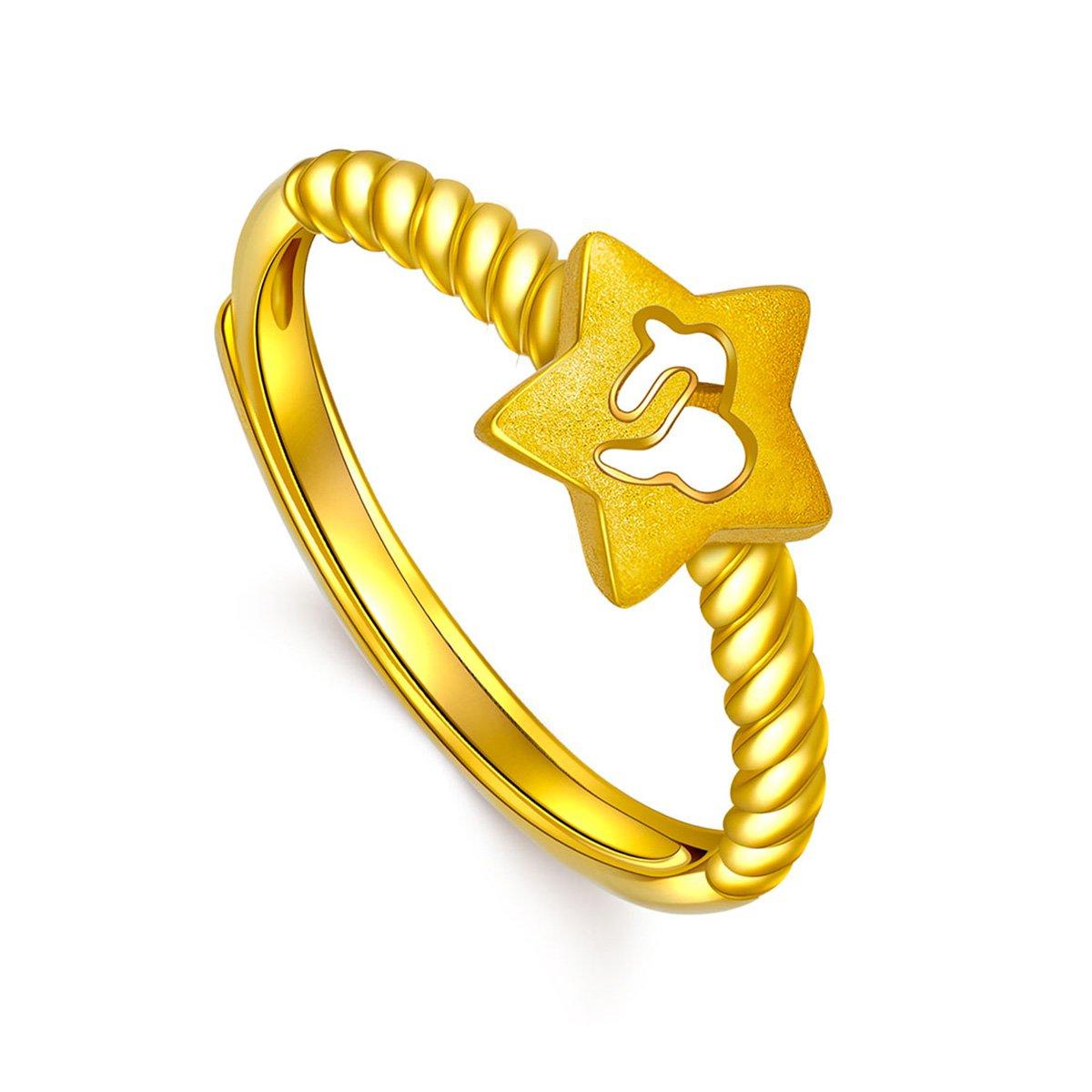 潮宏基潮宏基星物语十二星座足金戒指黄金戒指计价XWYSEXZJZZH