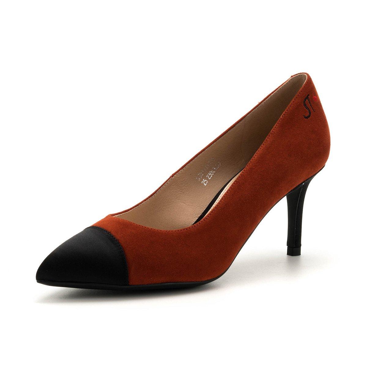 星期六星期六专柜款拼色简约大方细高跟尖头浅口女单鞋女SS8111137325
