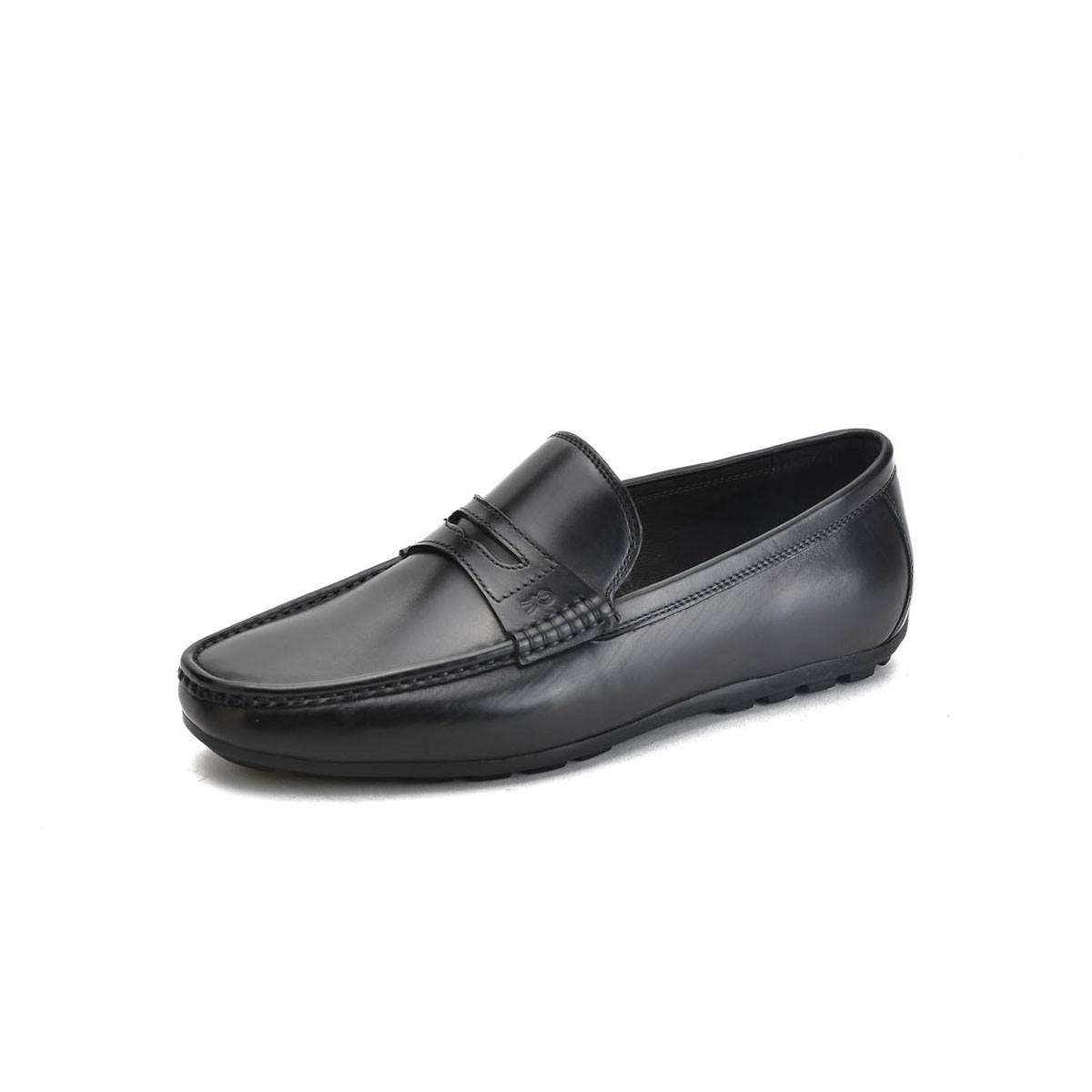 诺贝达2018新款 牛皮商务休闲鞋 超轻底一脚蹬男士皮鞋SRE33462A