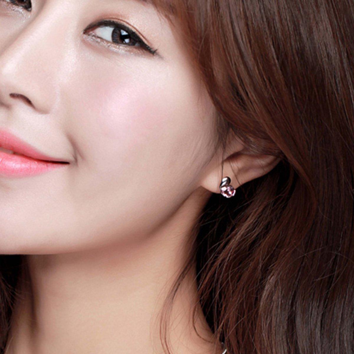 韩国女种子_静风格爱情种子耳钉气质女韩国版镶嵌施华洛世奇水晶耳环时尚个性耳饰