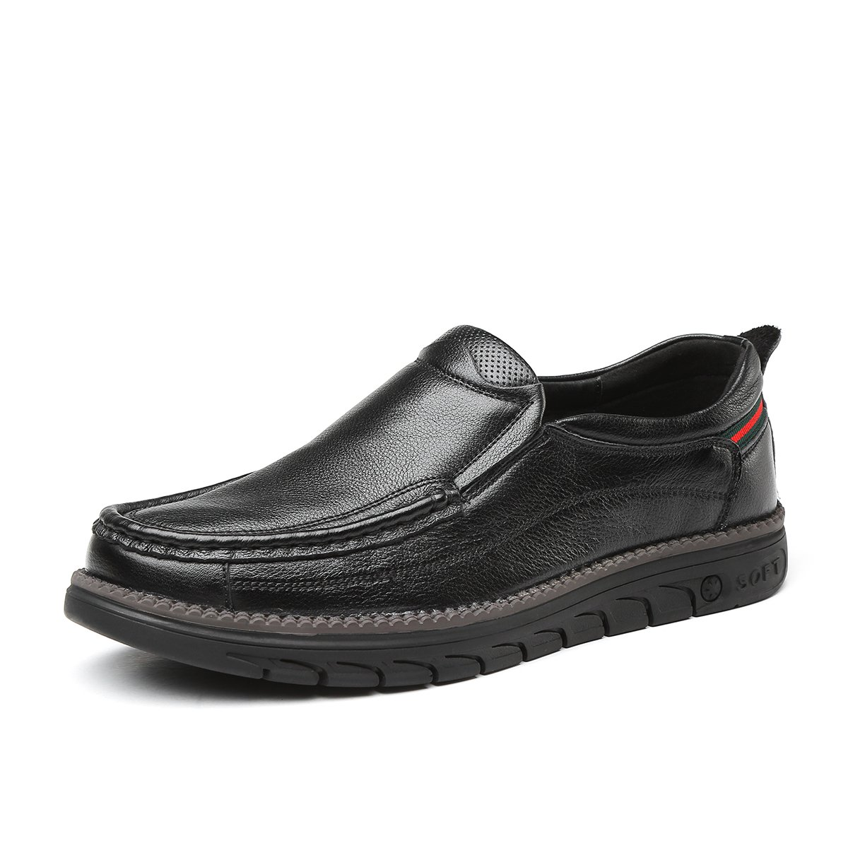 吉尔达吉尔达新品男士头层牛皮真皮休闲一脚蹬爸爸鞋男休闲皮鞋J81D10046101
