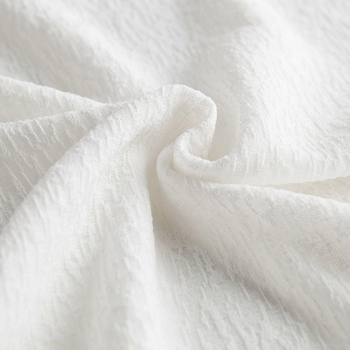 春秋款纯色圆领雪花纹理荷叶女士长袖t恤