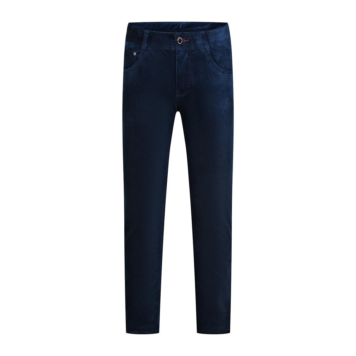 AOLAMAAOLAMA男式简约直筒绒面休闲裤08065195-52