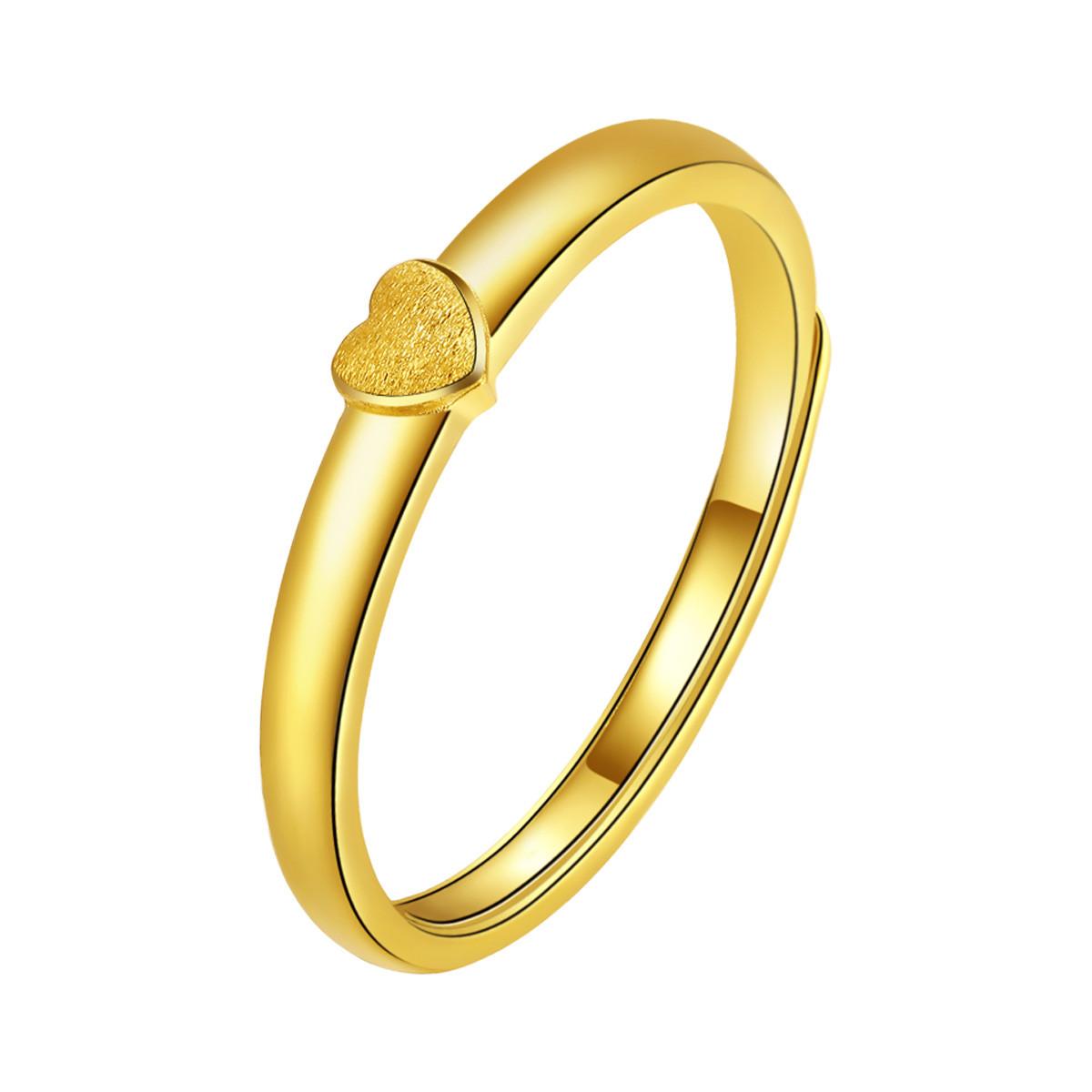 金至尊金至尊 足金爱心黄金戒指 计价DFJZ0124QJ
