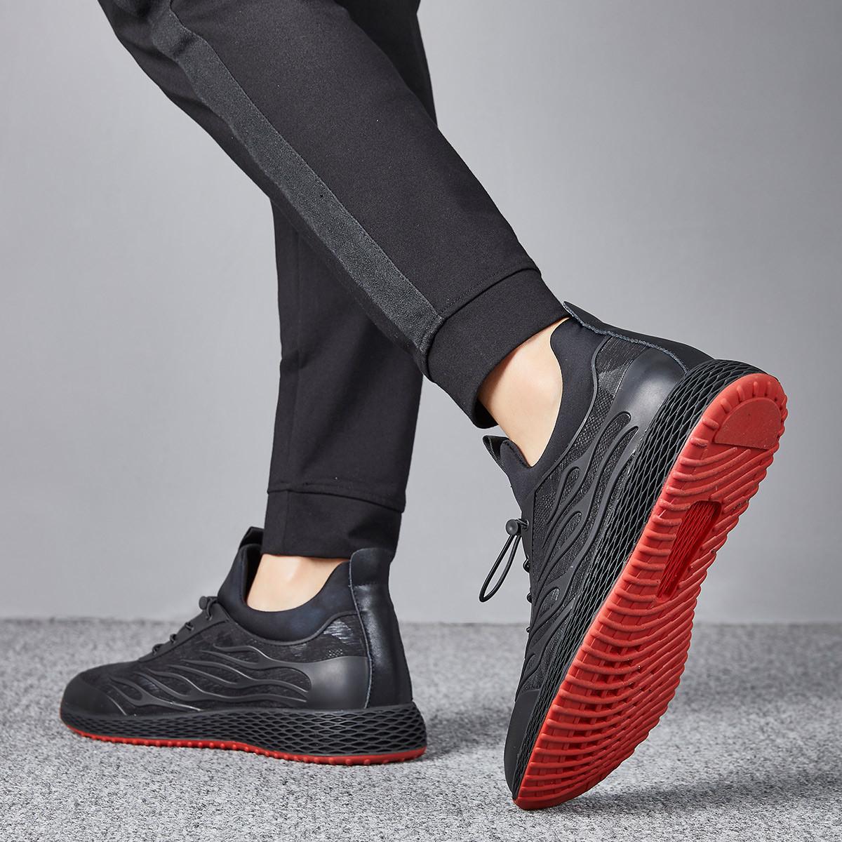 欧利萨斯2019新款飞织网布透气运动鞋男轻质套脚男鞋男士休闲鞋9991001