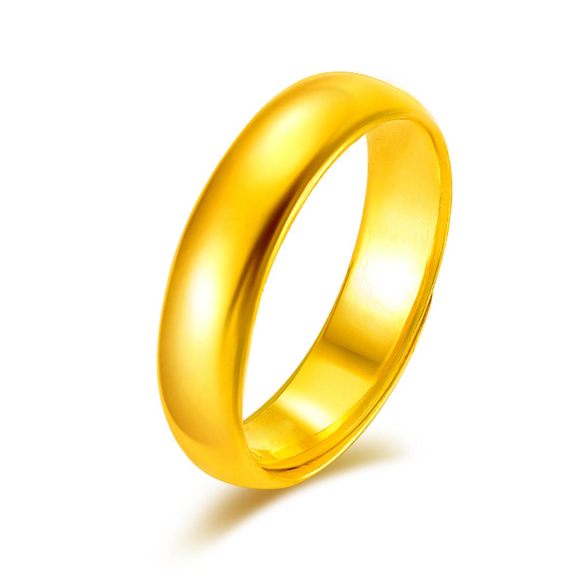 金至尊金至尊 足金简约光圈黄金戒指 计价DFJZ0009QJ
