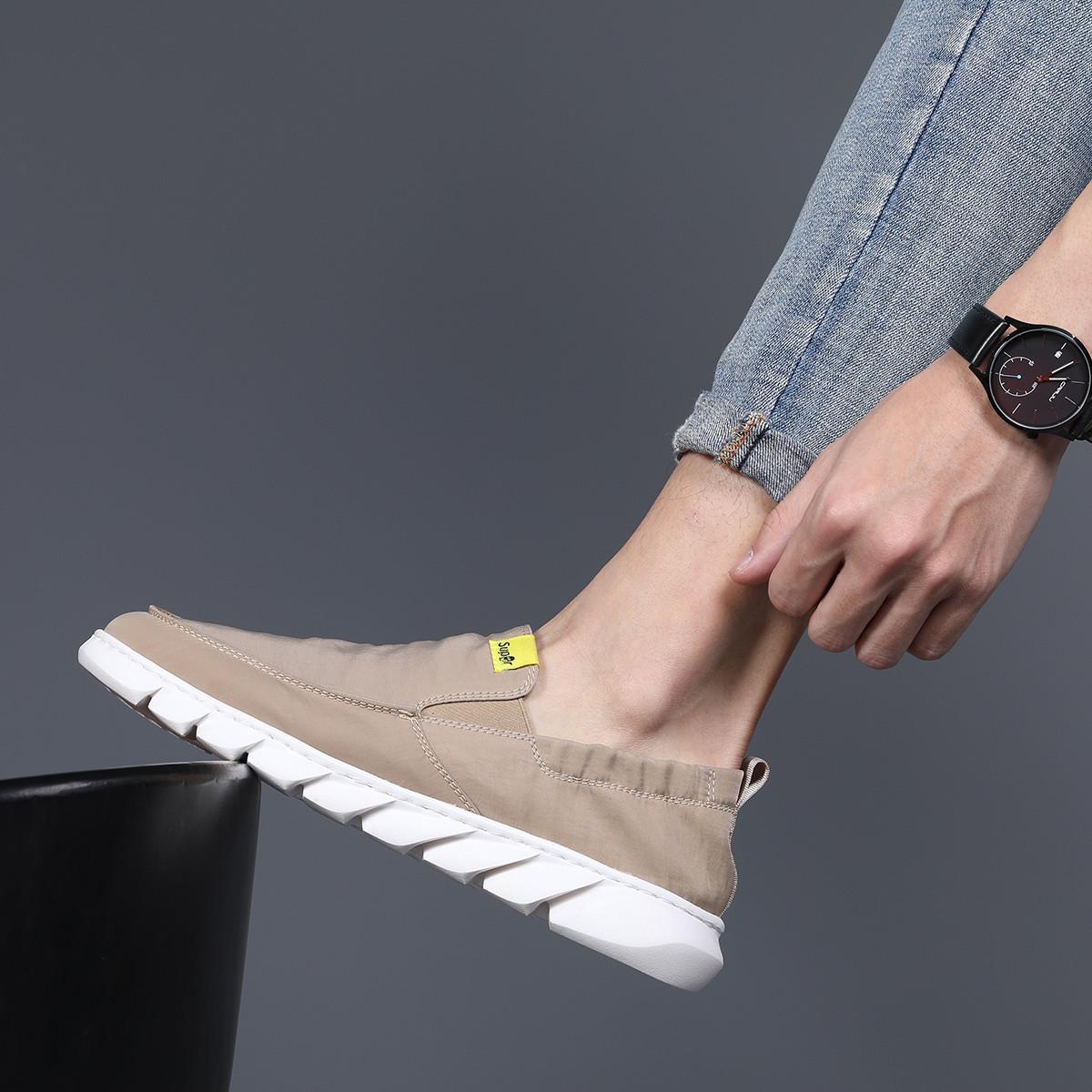 名人烟斗爆款男士帆布鞋低帮男士韩版布鞋透气男士休闲鞋男鞋1491311D27