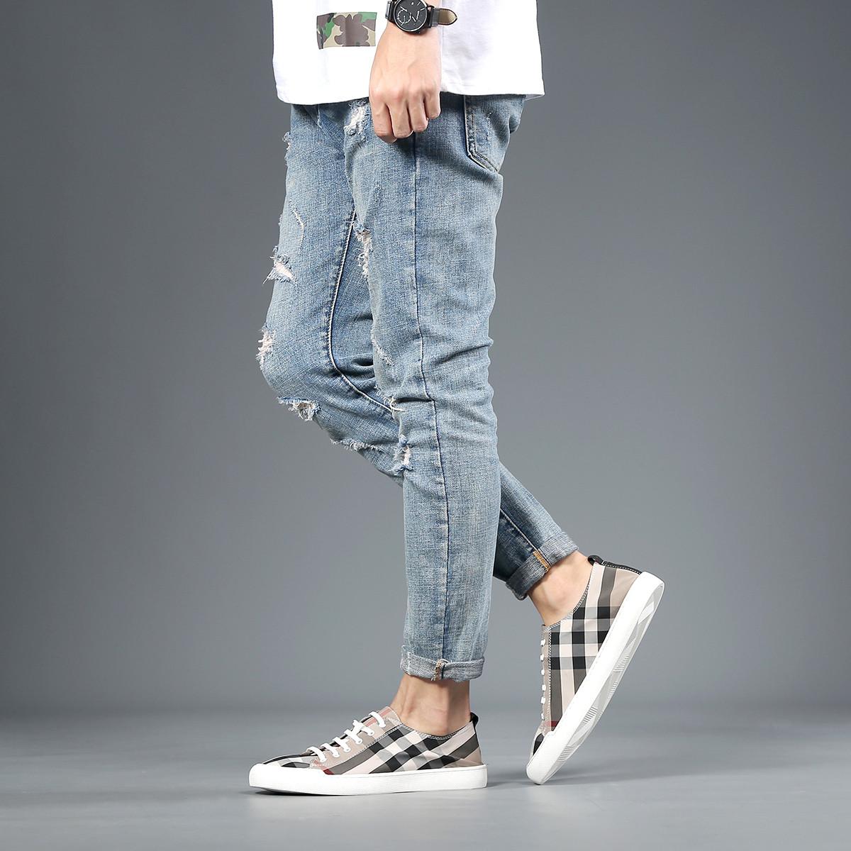 名人烟斗爆款男士布鞋潮流百搭一脚蹬男士休闲鞋男帆布鞋男鞋1492352D17