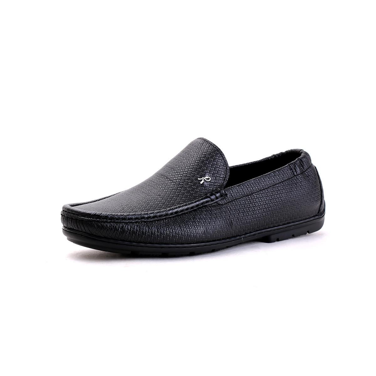 诺贝达2019新款 鹿皮压编织时尚休闲鞋软底软面男士豆豆鞋男鞋WRJ23025A