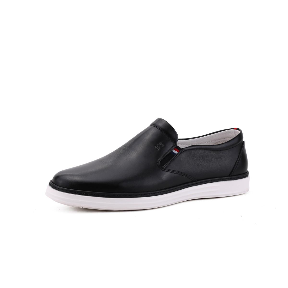诺贝达2019新款 小牛皮时尚 一脚蹬男士休闲鞋男鞋WRJ89002A