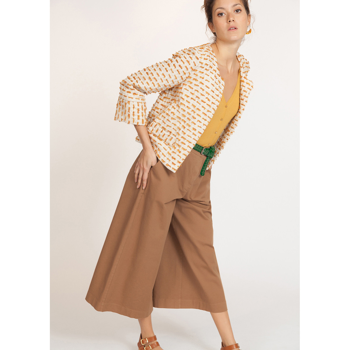 LA FEE MARABOUTEE19夏季新品小香风设计感长袖外套FB7530