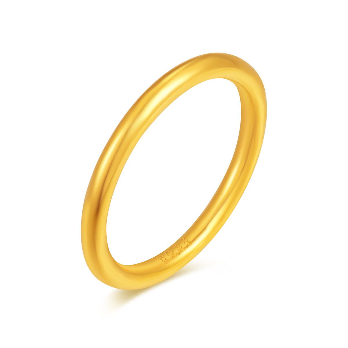 百泰首饰百泰 3D硬金光圈黄金戒指男女款可做情侣对戒(计价)D-HY-01-0012-01