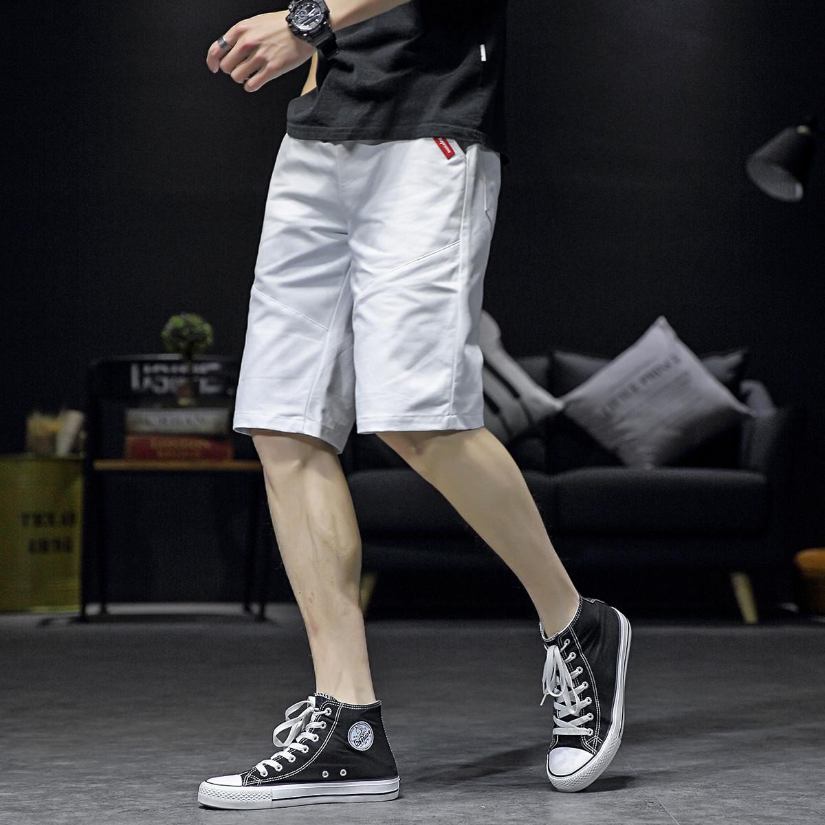 SARTORE男士短裤夏季新款休闲运动裤宽松直筒裤潮流男式五分裤子男MLS-19184