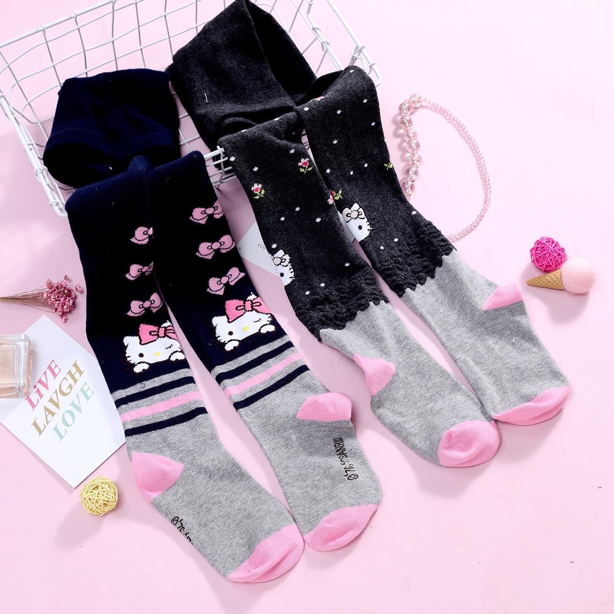 HELLO KITTYHELLO KITTY女童连裤袜2条装(图案随机发)XJKT8015BE