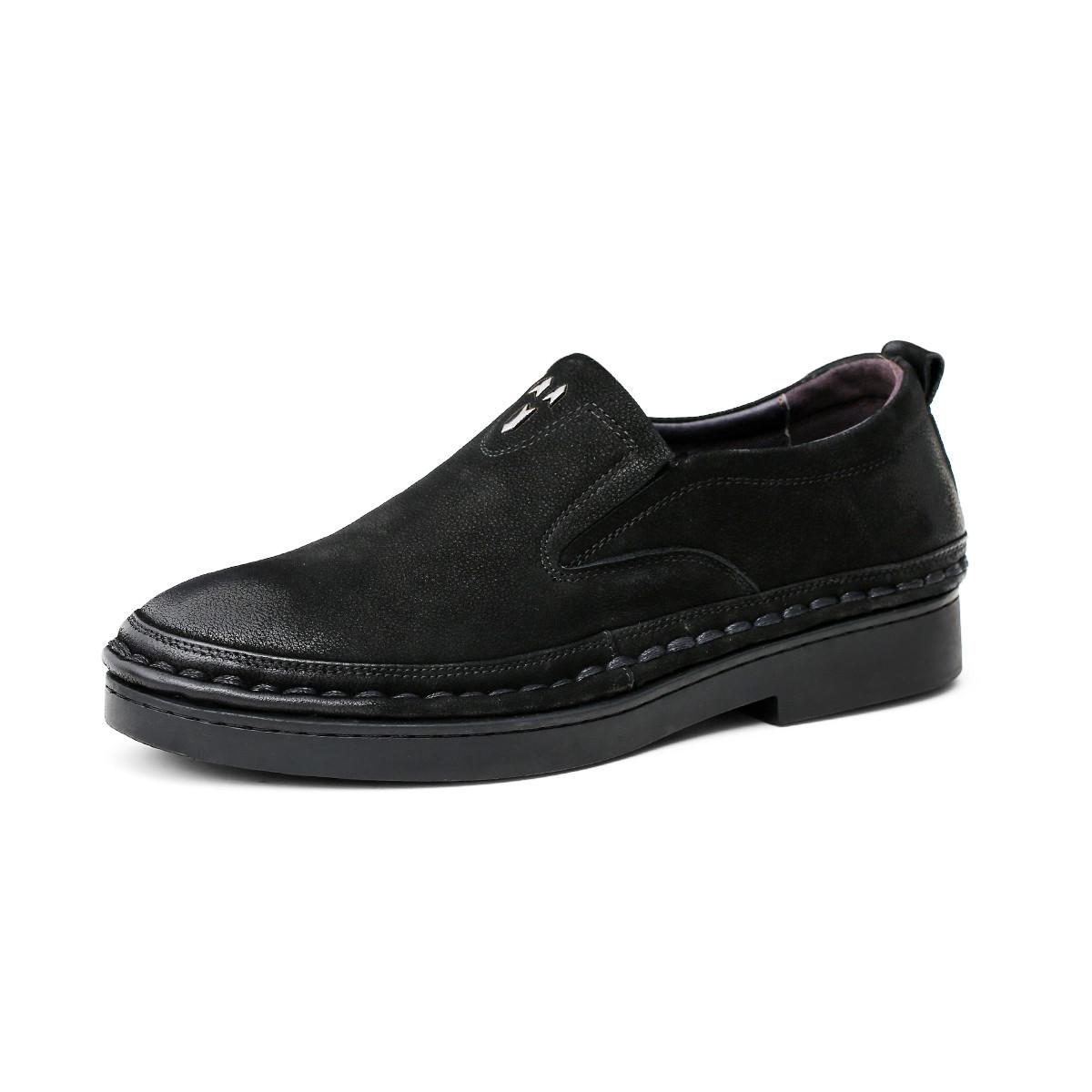 波尔谛奇新款真皮男鞋英伦软底舒适套脚乐福鞋司机鞋男士商务皮鞋德比鞋K8X81117-3-H1