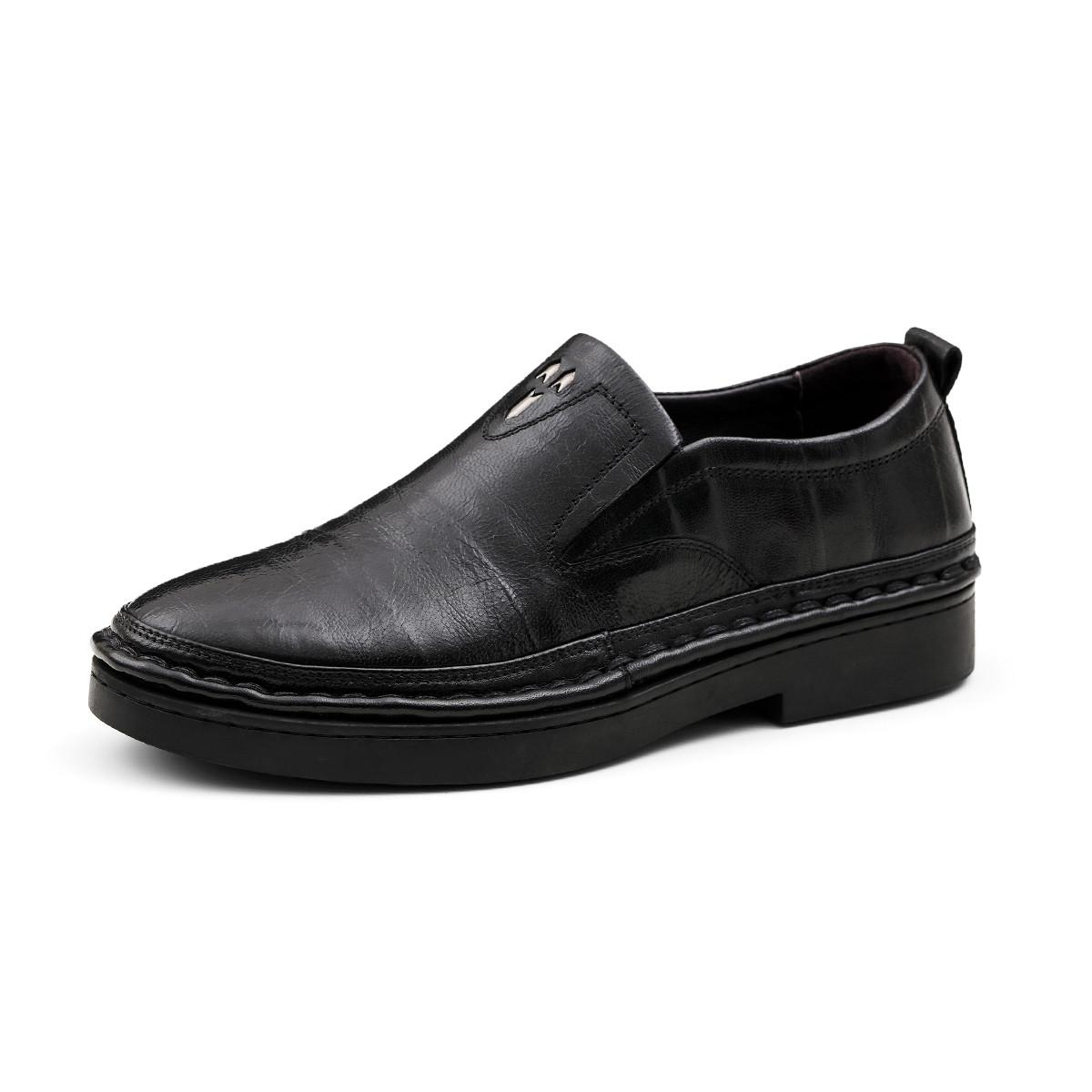 波尔谛奇新款真皮男鞋英伦软底舒适套脚乐福鞋司机鞋男士商务皮鞋德比鞋K8X81120-3-H1
