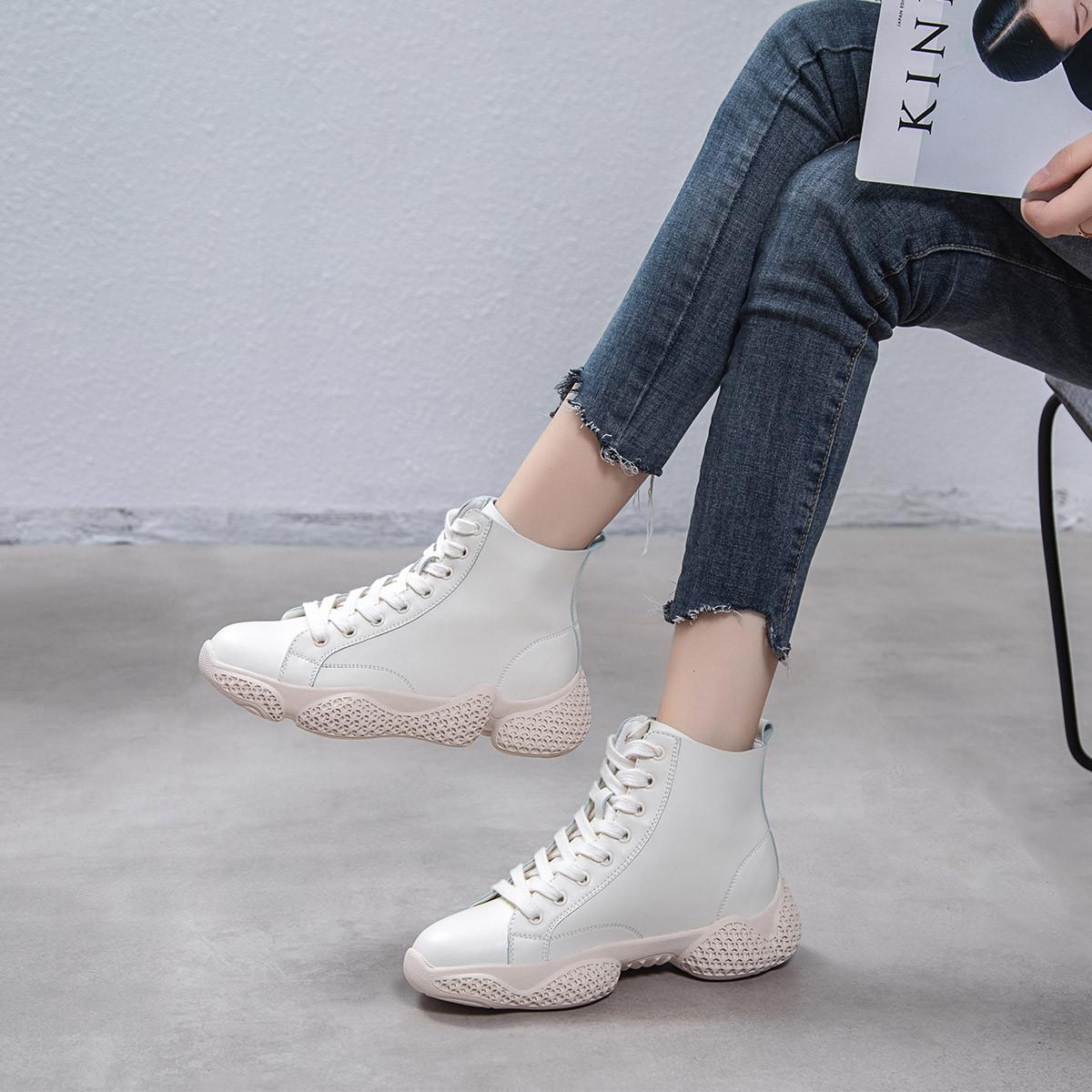 KALAILIER热卖爆款网红单靴韩版时尚百搭潮鞋厚底高帮老爹靴运动短靴KW0819029457